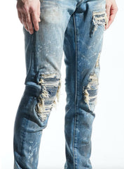 Embellish Jeans - Burns Rip & Repair - Dirty Light Indigo - EMBSP220-106