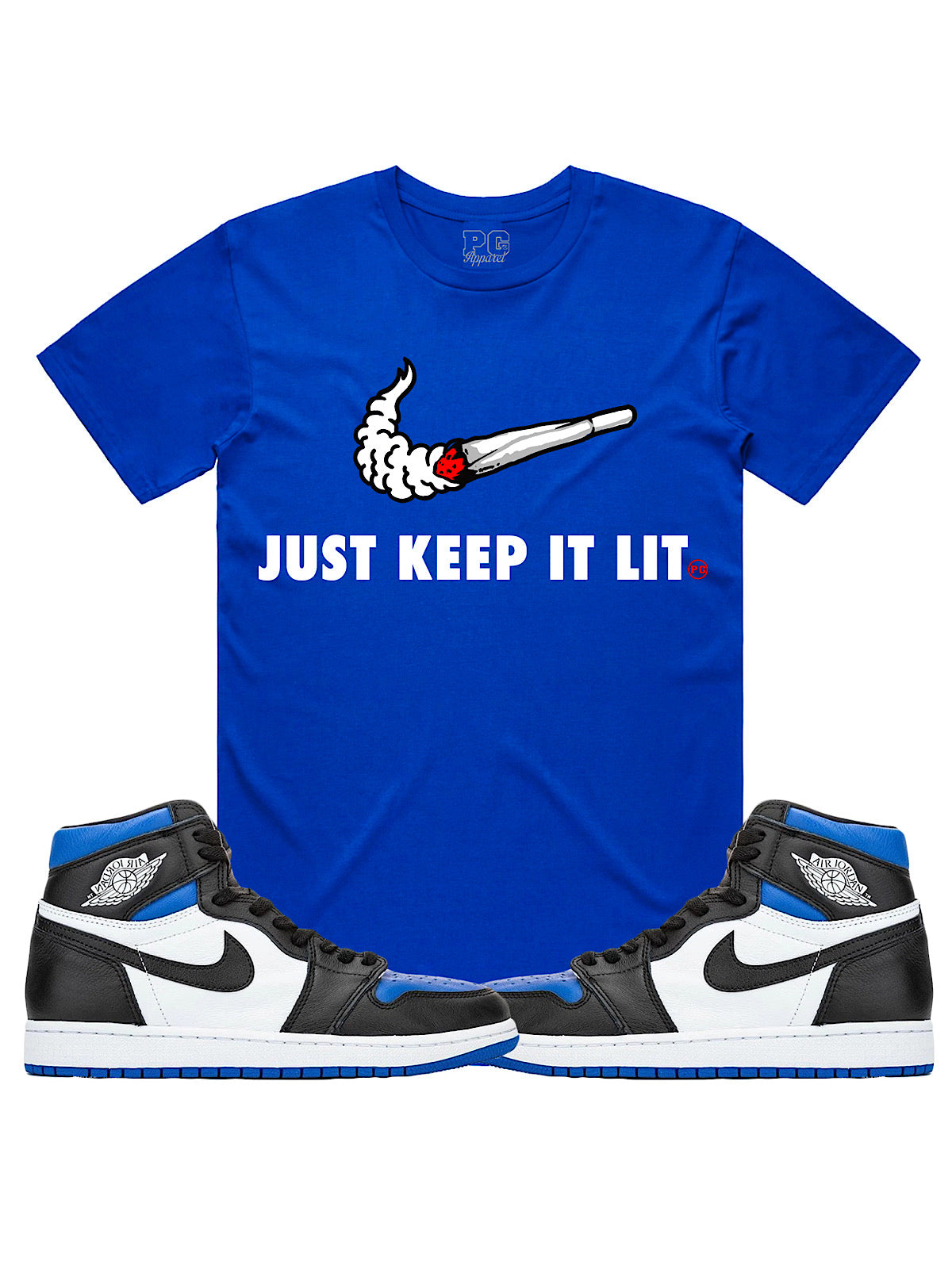 PG Apparel T-Shirt - Just Keep It Lit - Blue