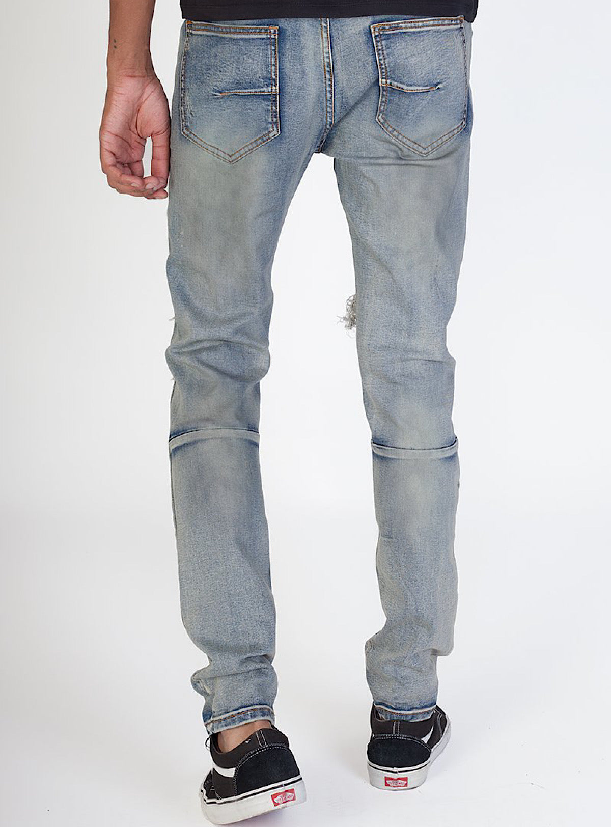 KDNK Jeans - Black Stones - Vintage Medium Blue - KND4315