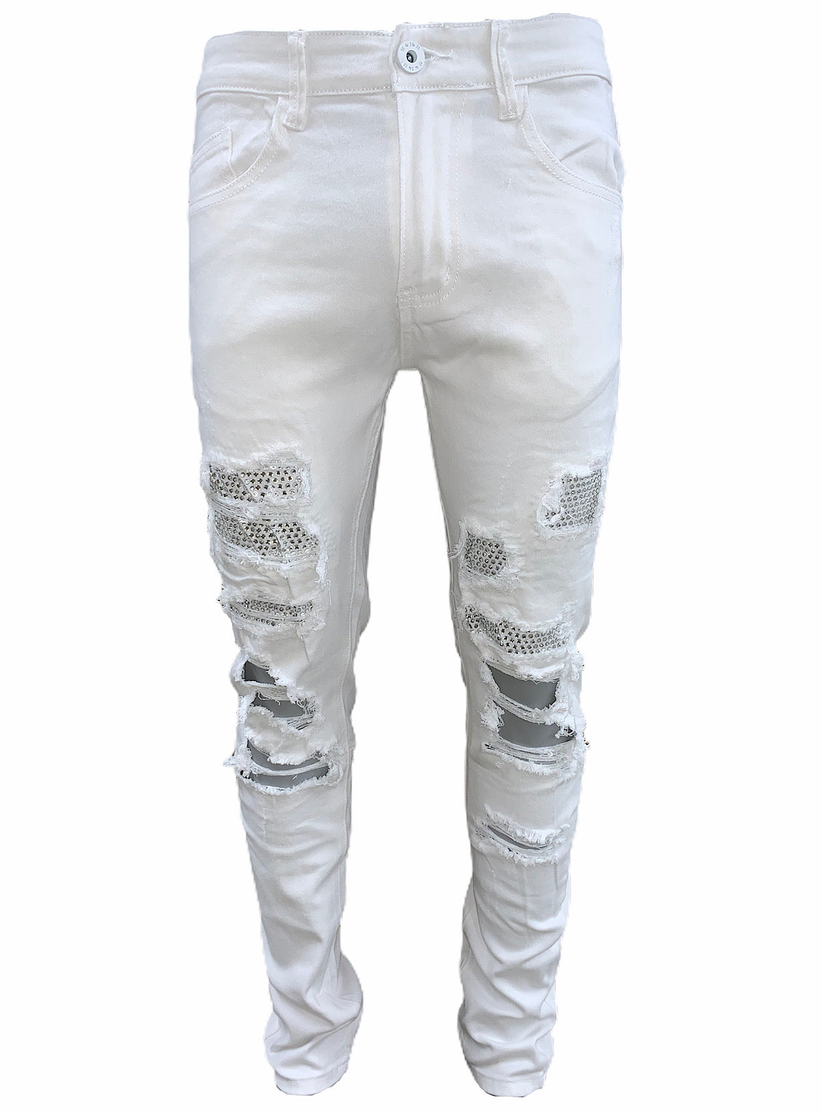 KDNK Jeans - Silver Stones - White - KNB3166