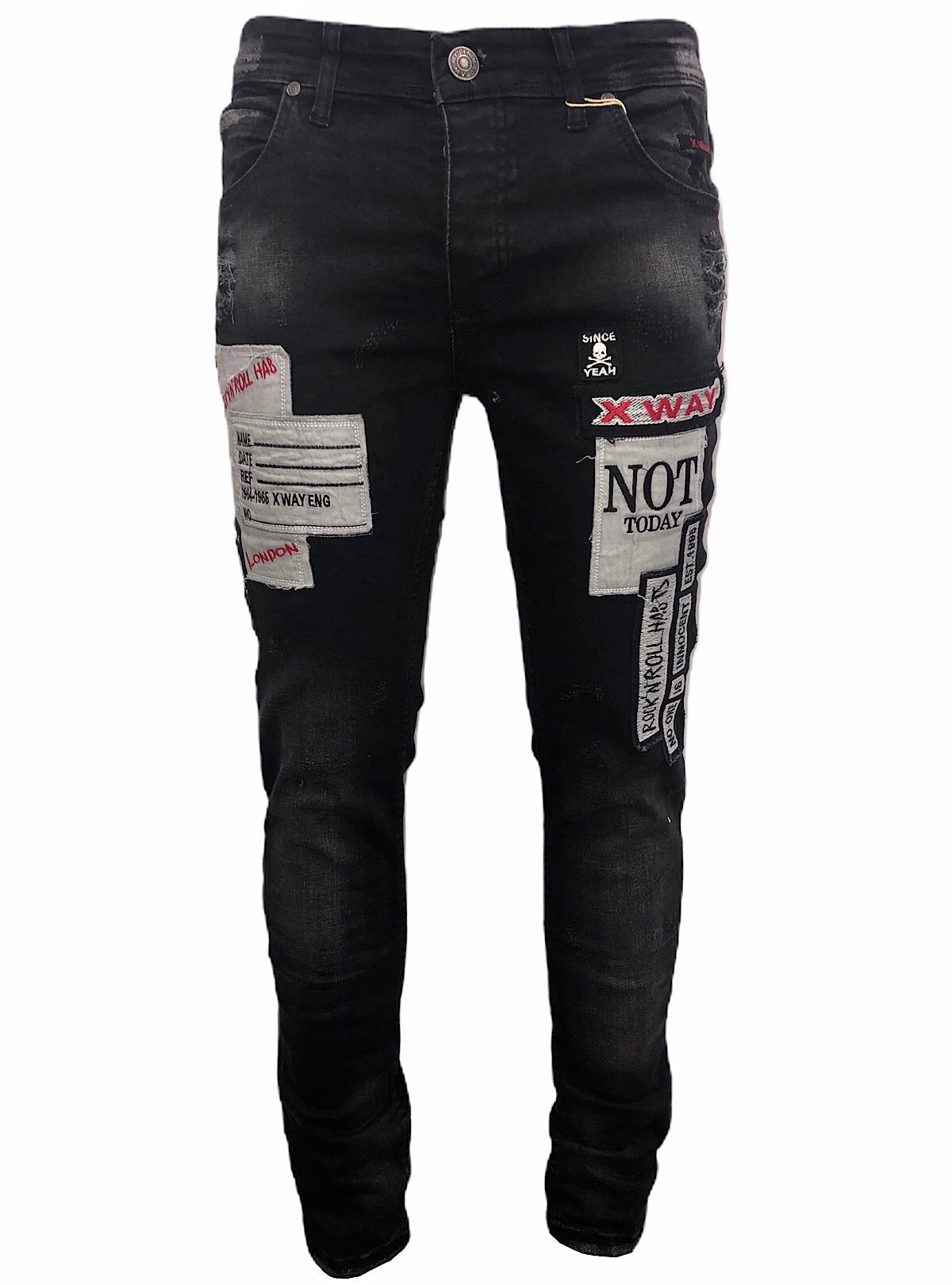 X-Way Jeans - Not Today - Black - 6031-R1