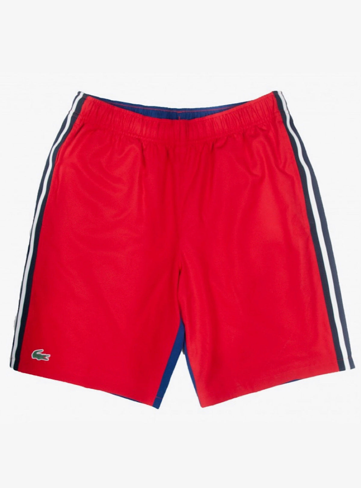 Lacoste Shorts - Sport Contrast Band - Red/Blue - GH2105-51