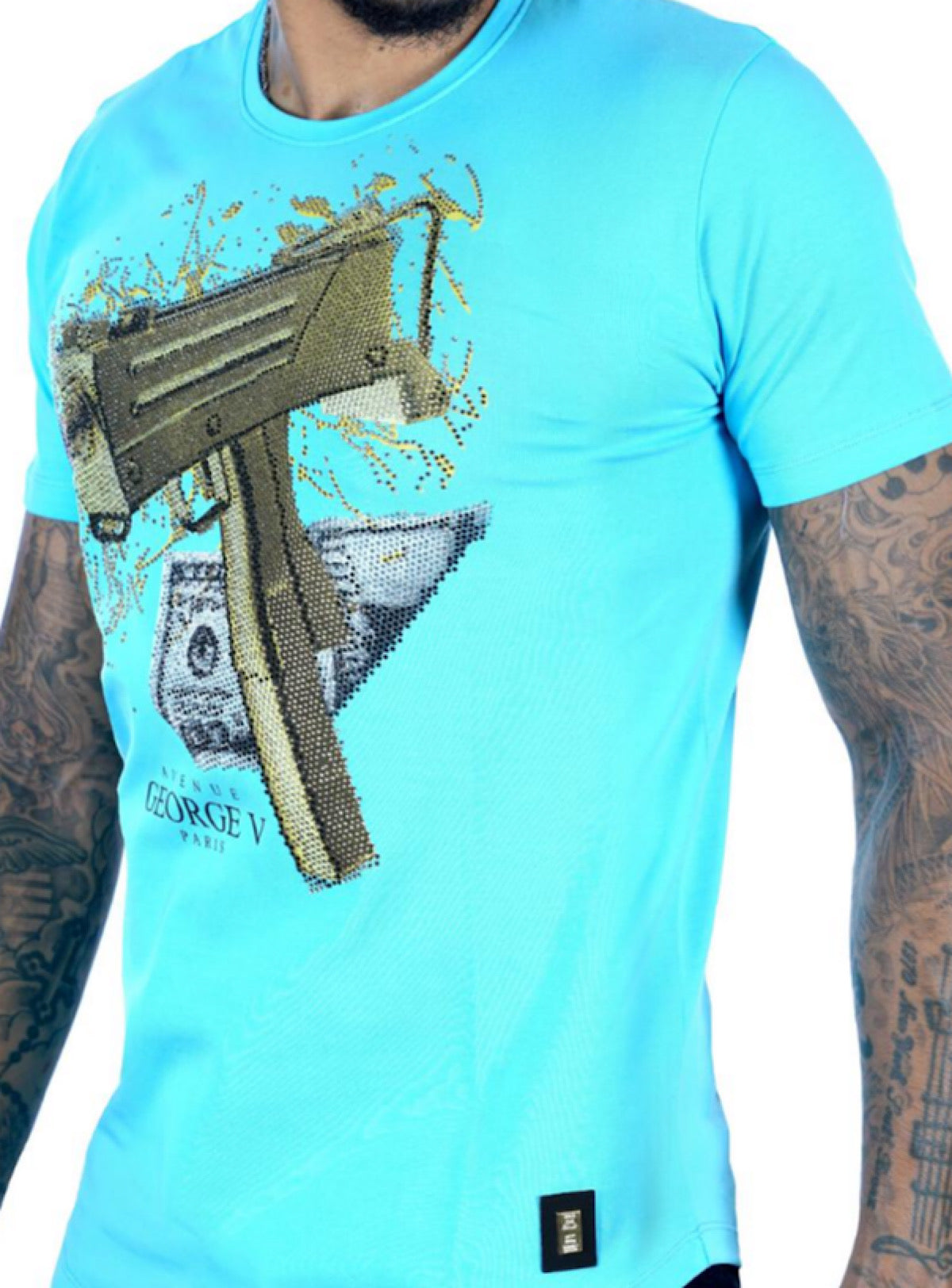 George V T-Shirt - Gun - Baby Blue - GV2067
