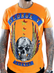 George V T-Shirt - Flying Skull - Orange - GV2071