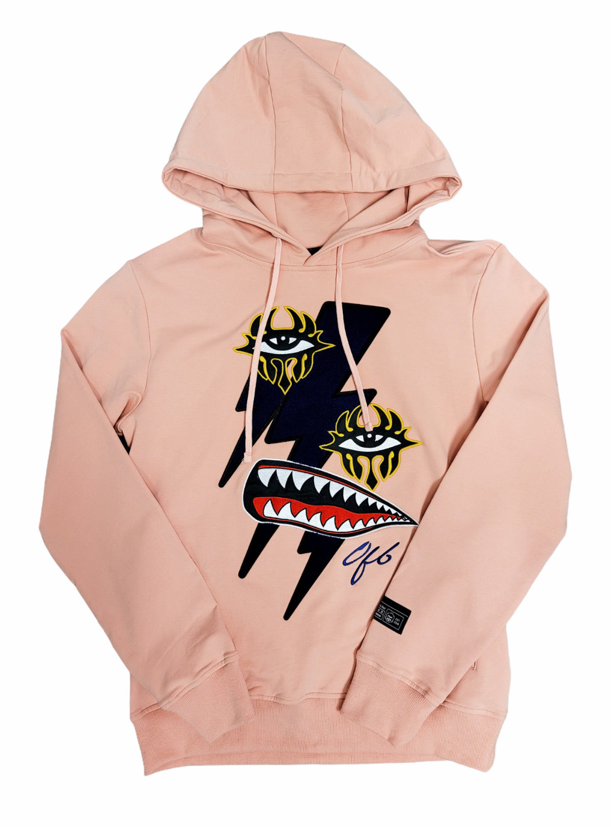 Offbeat Hoodie - Lightning Bolts - Soft Coral - 02FH01