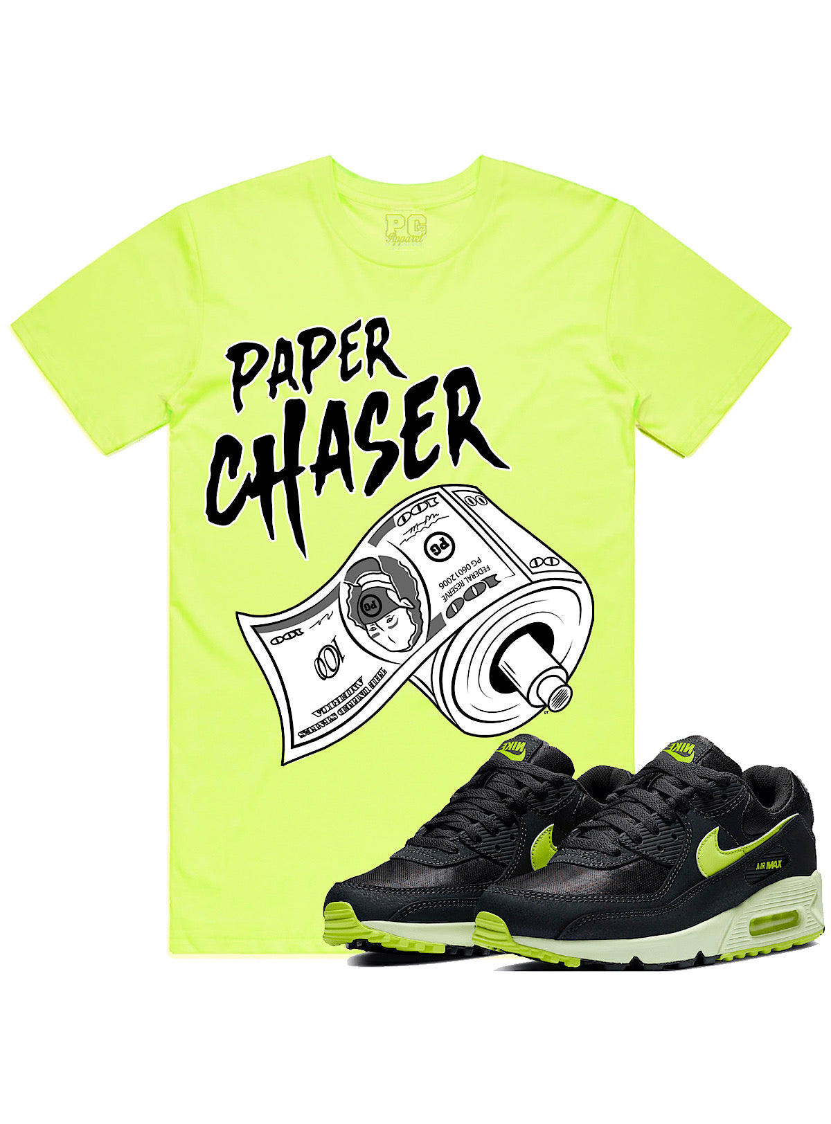 PG Apparel T-Shirt - Paper Chaser - Neon - PC100