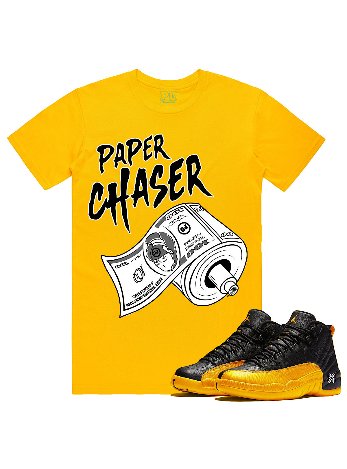 PG Apparel T-Shirt - Paper Chaser - Golden Yellow - PC100