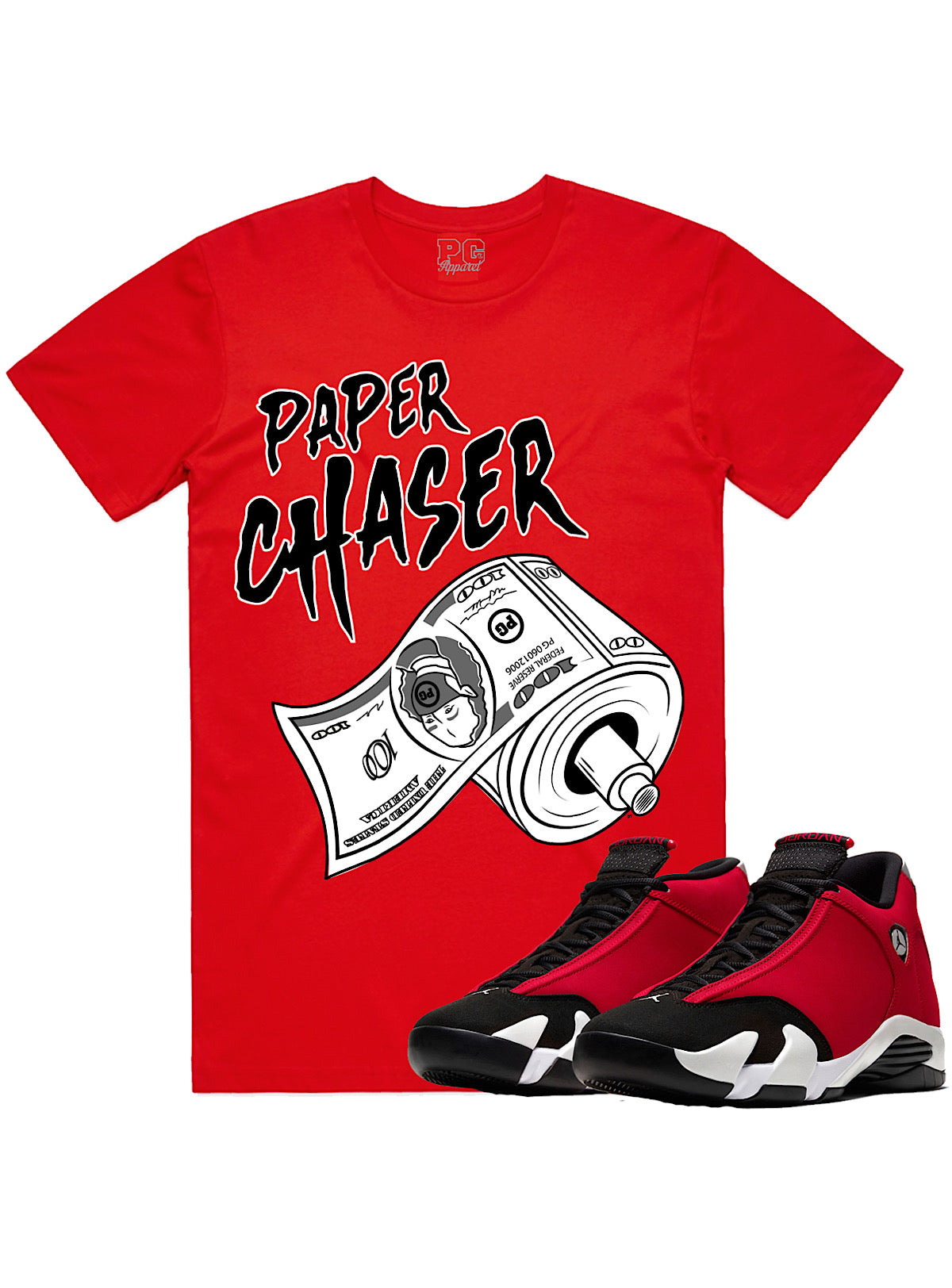 PG Apparel T-Shirt - Paper Chaser - Red - PC100