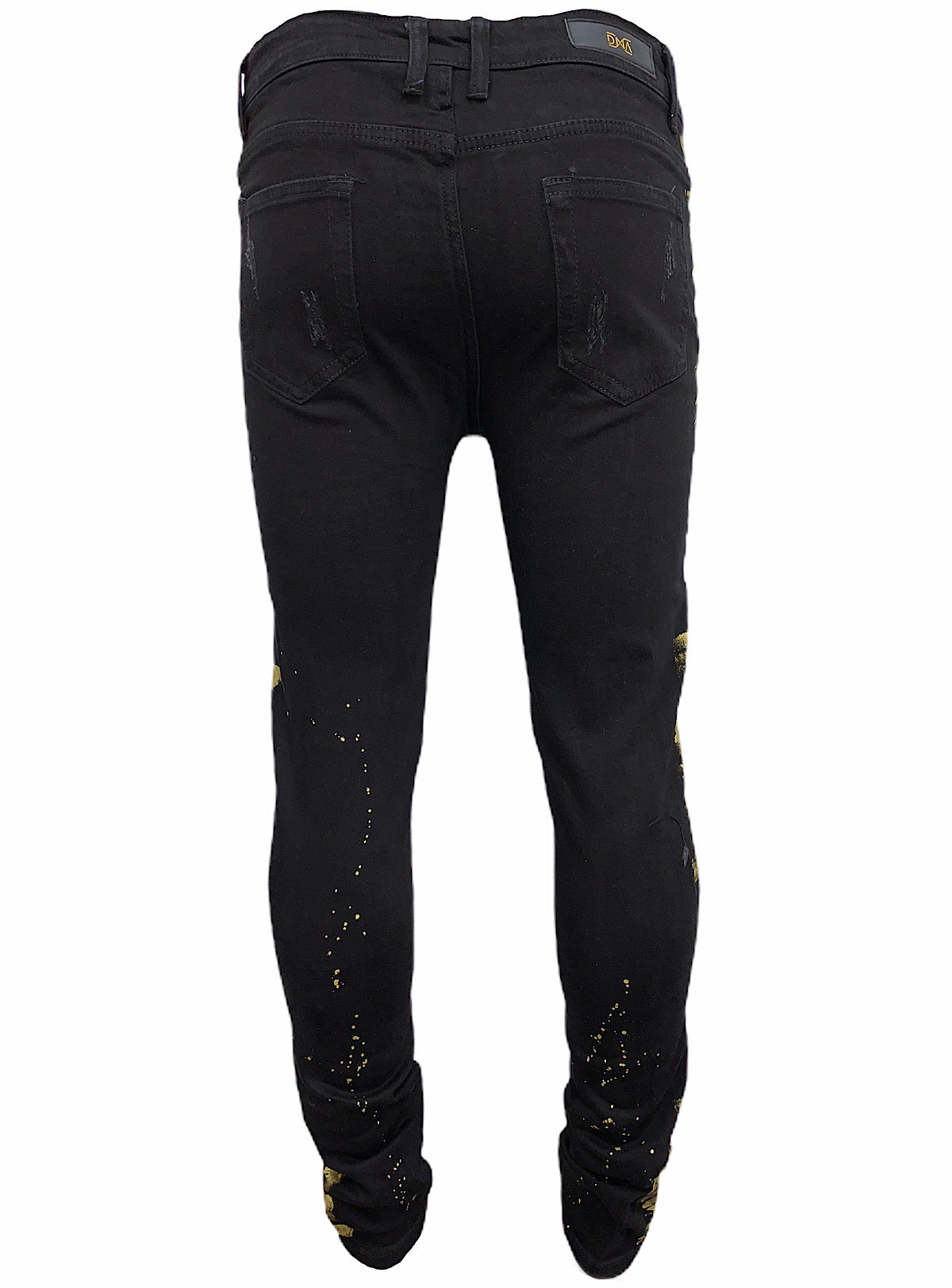 DNA Jeans - Stones and Paint - Black/Gold - FL011