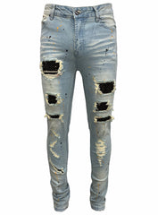 DNA Jeans - Stones and Paint - Black/Gold Splatter