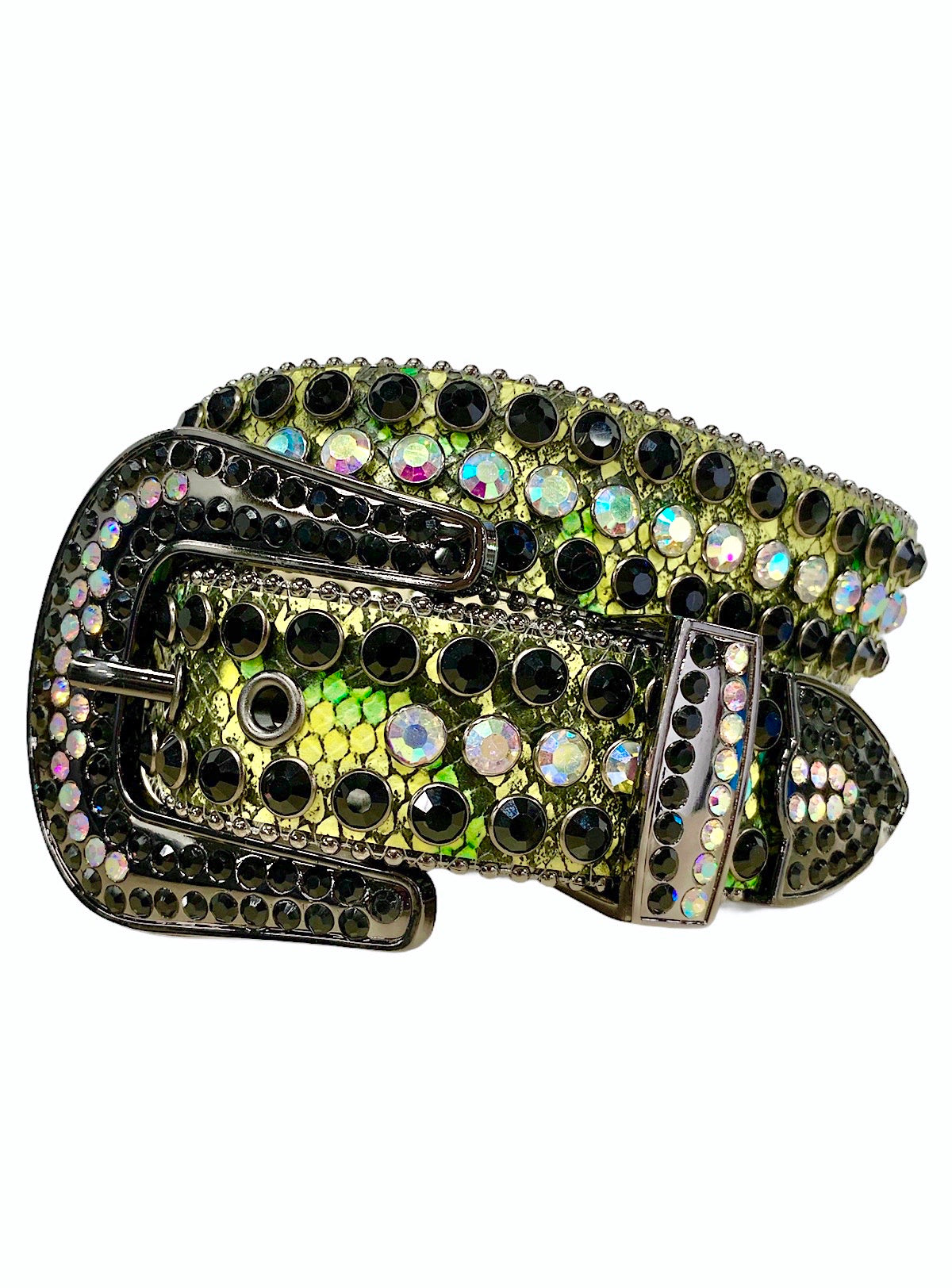 DNA Belt - Snake Skin - Green, Yellow, and Black
