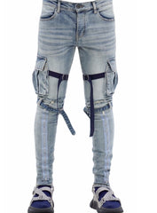Valabasas Jeans - Strapped - Light Wash - V39