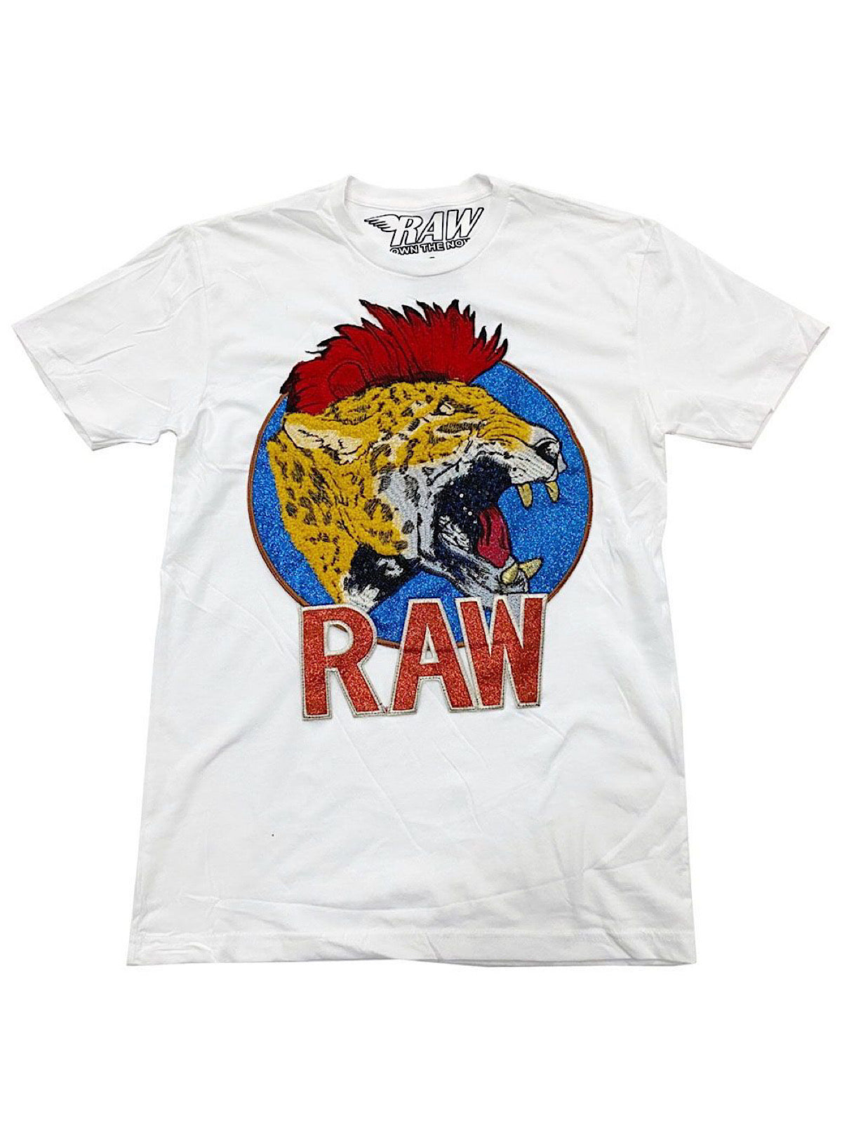 Rawyalty T-Shirt - Leopard - White