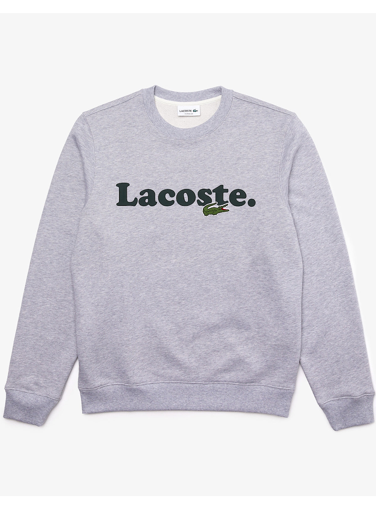 Lacoste Crewneck Sweater - Branded - Grey Chine - SH2173