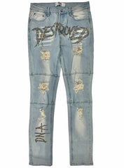 DNA Jeans - Destroyed - Blue/Gold