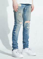 Crysp Denim Jeans - Kenseth - Sand Indigo - CRYSPFA120-131