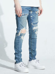 Crysp Denim Jeans - Kasey - Blue Distressed - CRYSPFA120-128
