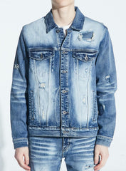 Crysp Denim Jacket - Bering - Bleach Indigo - CRYSPFA120-203