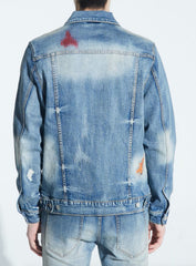 Embellish Jacket - Hamlin Denim Jacket - Light Indigo - EMBSP120-201