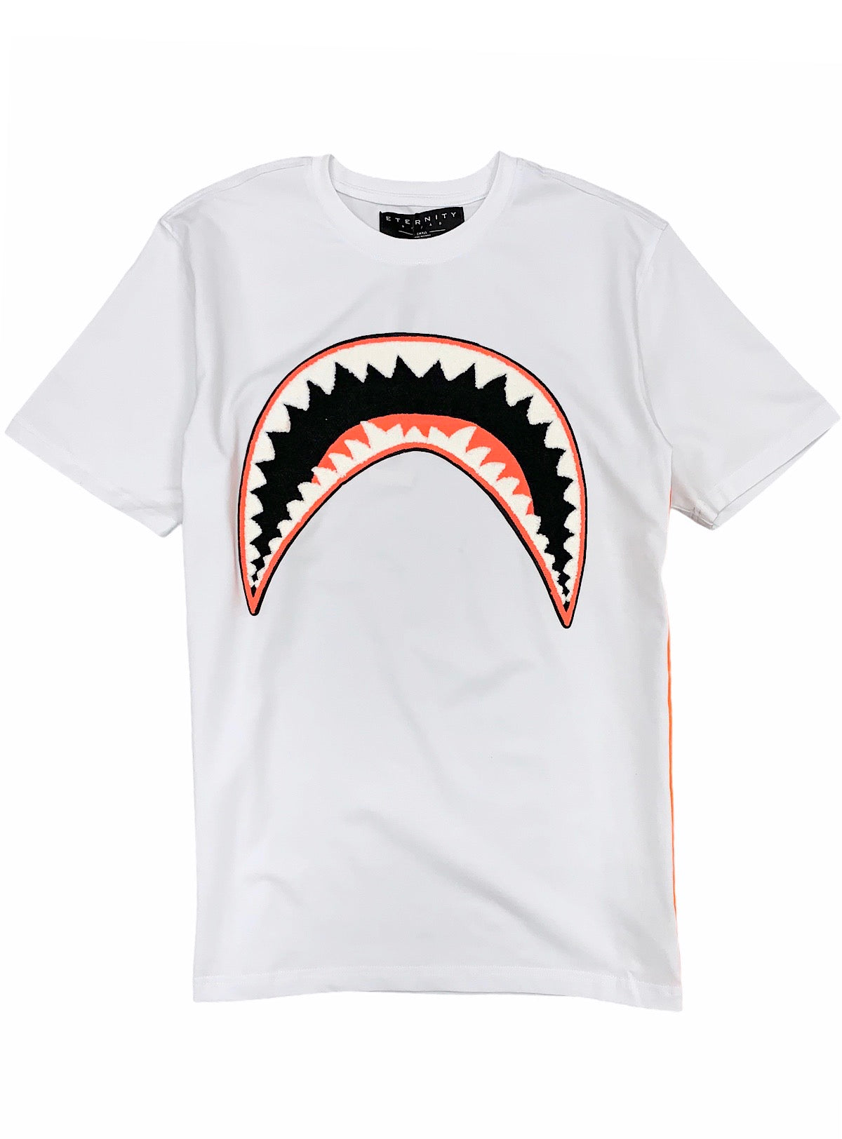Eternity T-Shirt - Shark Mouth - White And Orange - E1133195