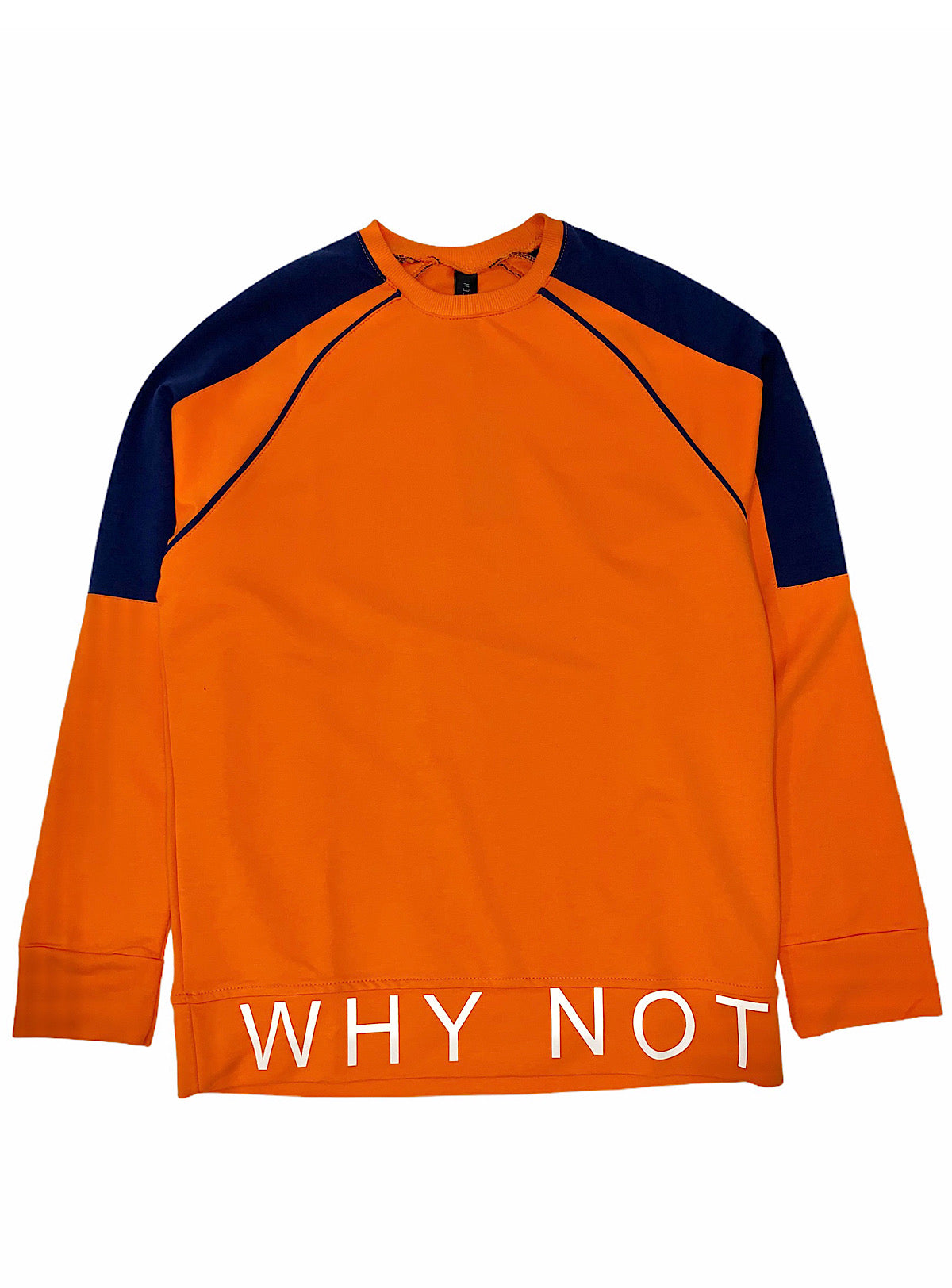 Buyer's Choice Sweatshirt - Why Not - Orange And Navy - ST-6503
