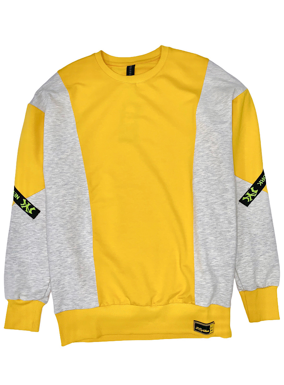 Buyer's Choise Sweatshirt - New York - Yellow And Grey - ST-6503