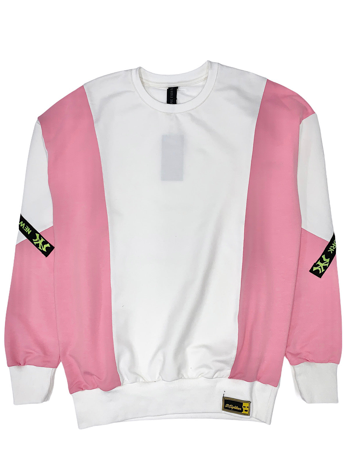 Buyer's Choice Sweatshirt - New York - White And Pink - ST-6509
