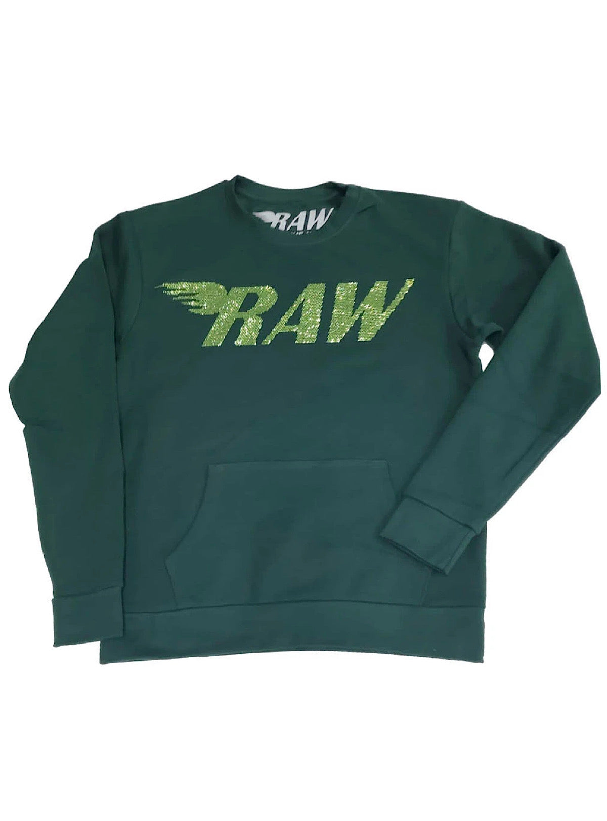 Rawyalty Sweater - Raw Stones - Lime and Forest Green