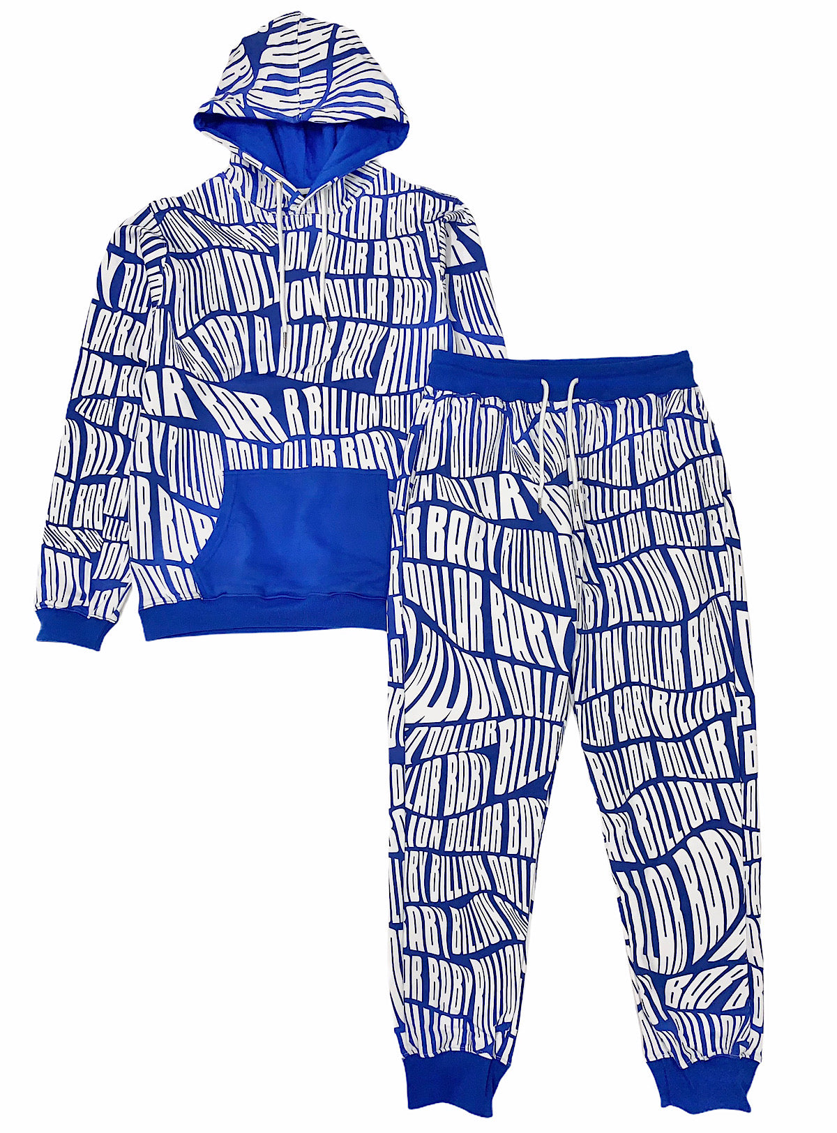 Billion Dolla Baby Sweatsuit - AOP Print - Blue
