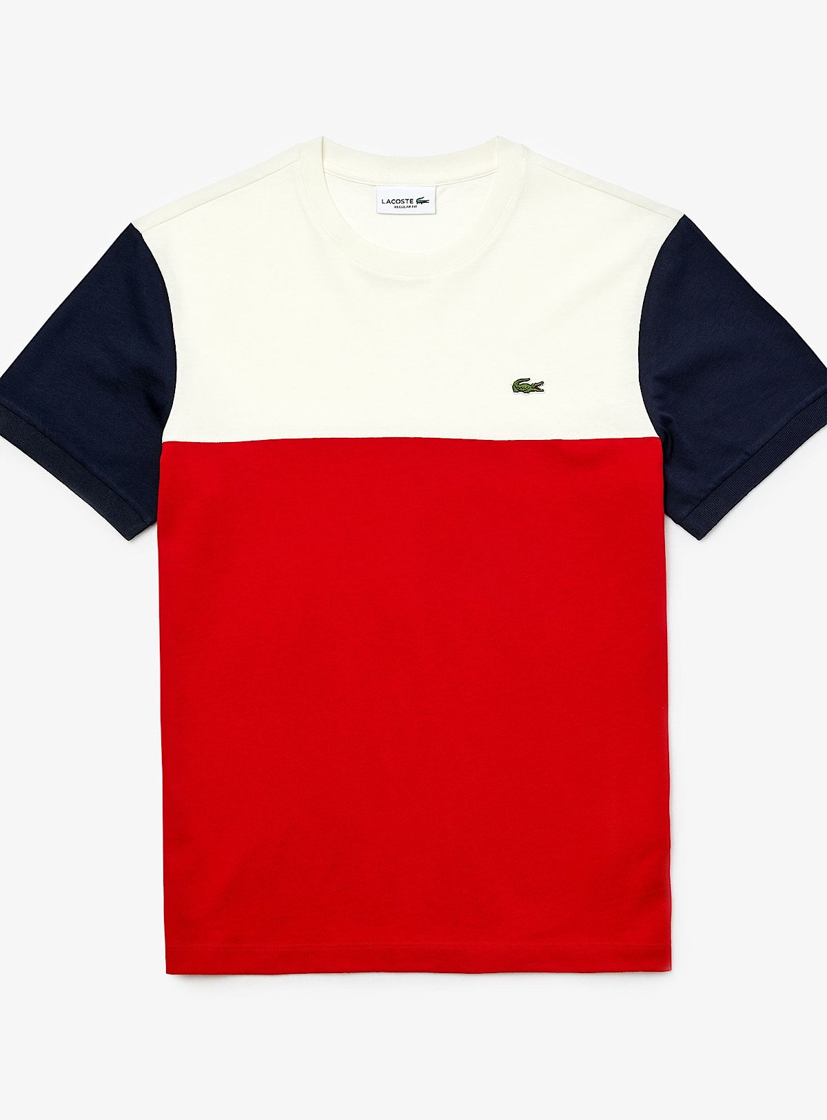 Lacoste T-Shirt - Color Block - Red/White - TH5103