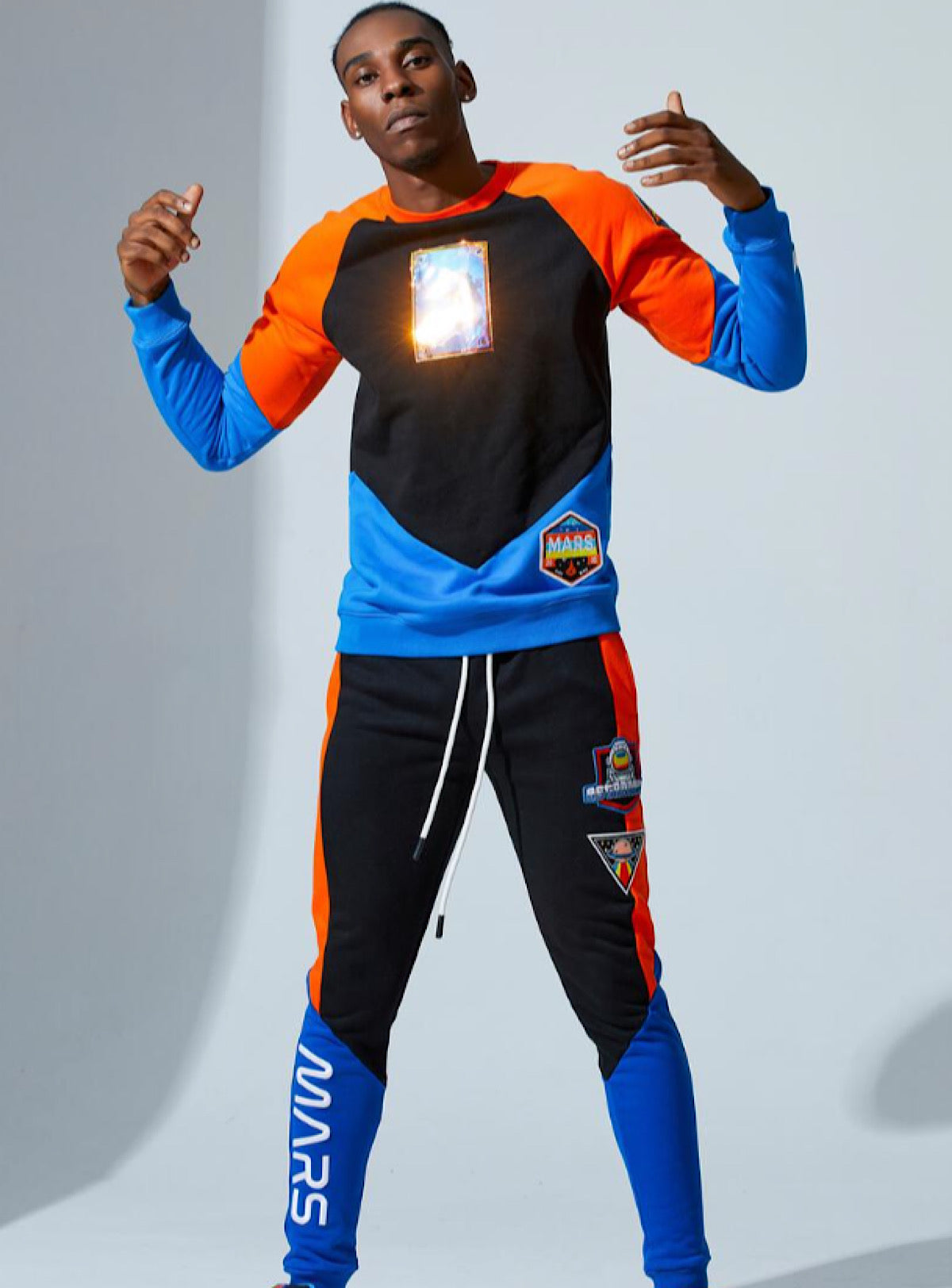 Fifh Loop Sweatsuit - Mars - Black With Orange and Royal - FLC011