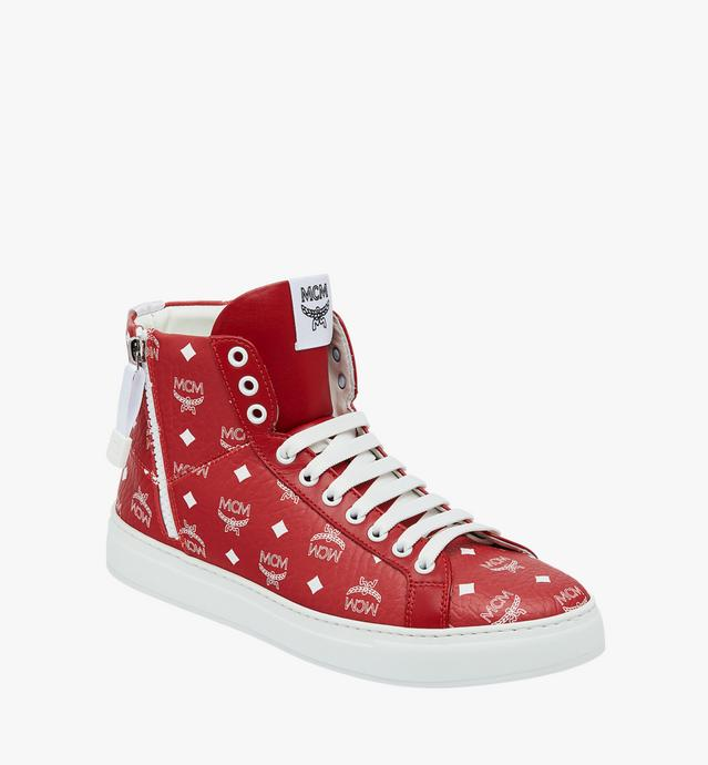 Mcm Red/White Sneakers Mex9Swa05