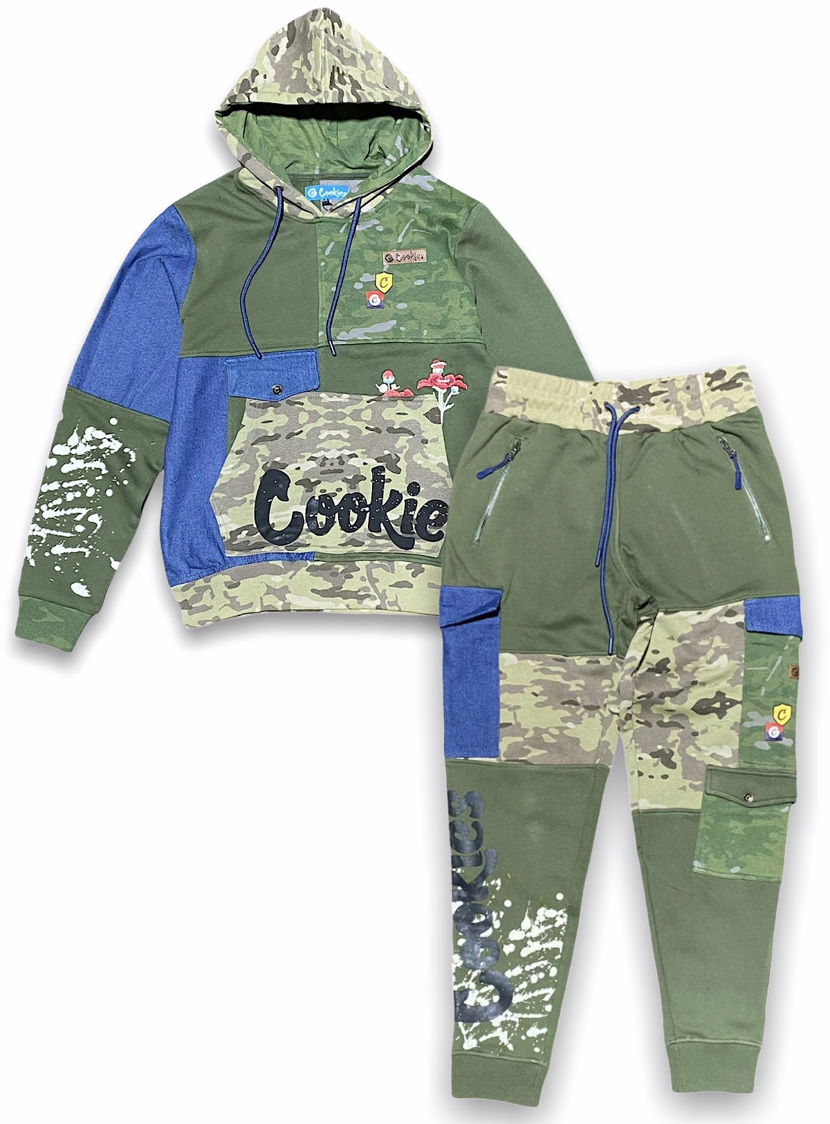 Cookies Sweatsuit - Backcountry Pullover Hoodie and Pants - Olive - 1546H4304