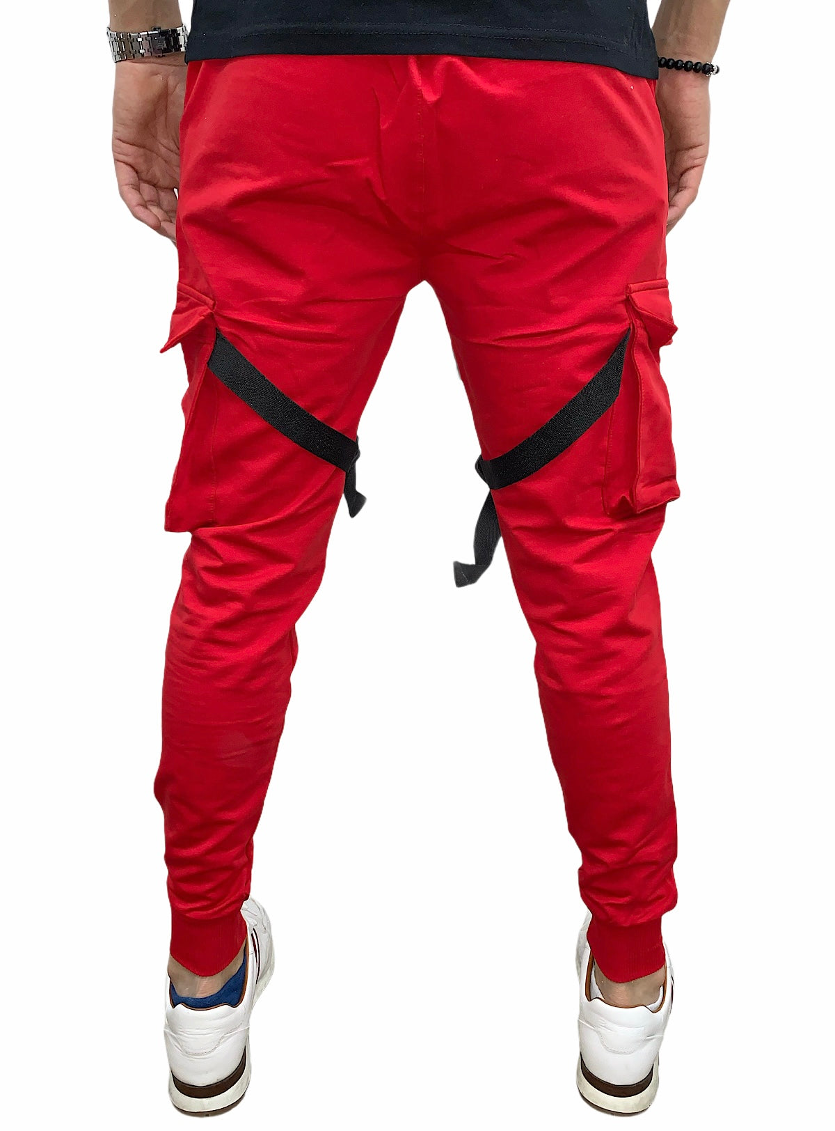 Buyer's Choice Pants - Straps - Red - P6613