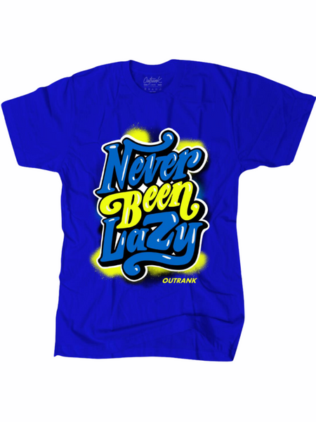 Outrank T-Shirt - Never Been Lazy - Blue - OR1522