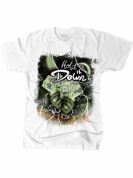 Outrank T-Shirt - Hold It Down - White - OR1515