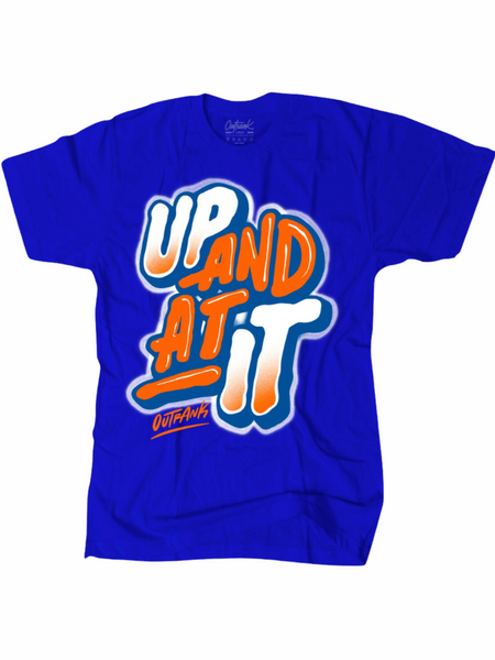 Outrank T-Shirt - Up and At It - Blue - OR1519