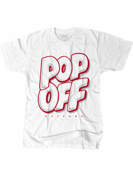 Outrank T-Shirt - Pop Off - White - OR1504