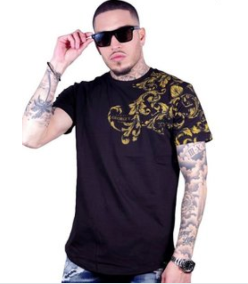 George V T-Shirt - Abstract - Black And Gold
