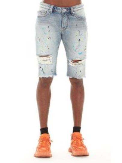 Cult Of Individuality Shorts - Rocket - Blue And Neon - 620A5-SC14G