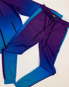 Rebel Minds Track Pants - Purple/Blue - 192-471