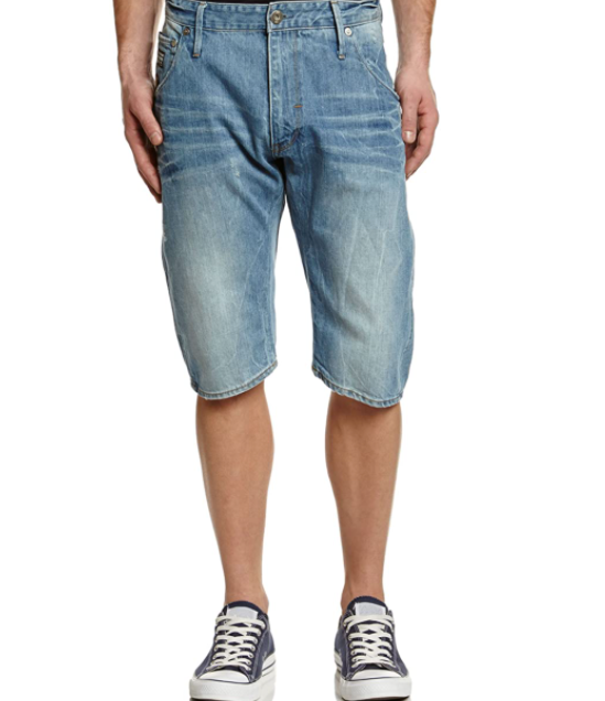 G-Star Raw Jean Shorts - Arc 3D Loose Tapered Bermuda - Light Aged - 81621C