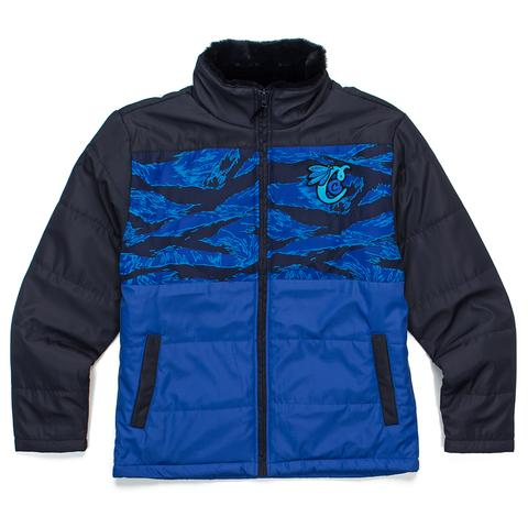 Cookies Jacket - Top Of The Key Tiger Camo Nylon/Nylon Poly Filled Jacket - Blue - 1546O4341