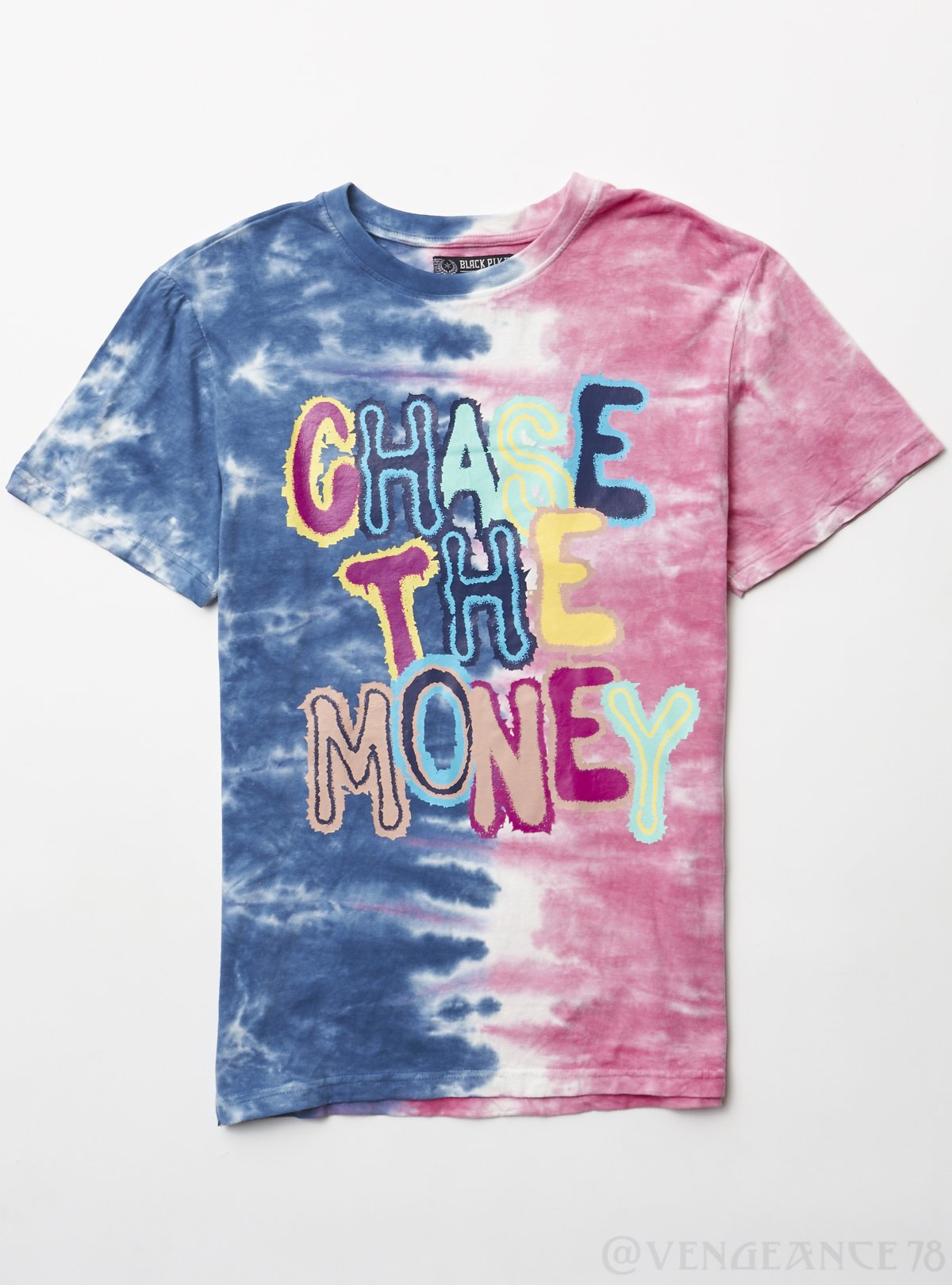 Black Pike T-Shirt - Chase the Money - Blue - BS0403