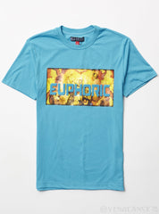 Black Pike T-Shirt - EUPHORIC - Aqua - BS0415