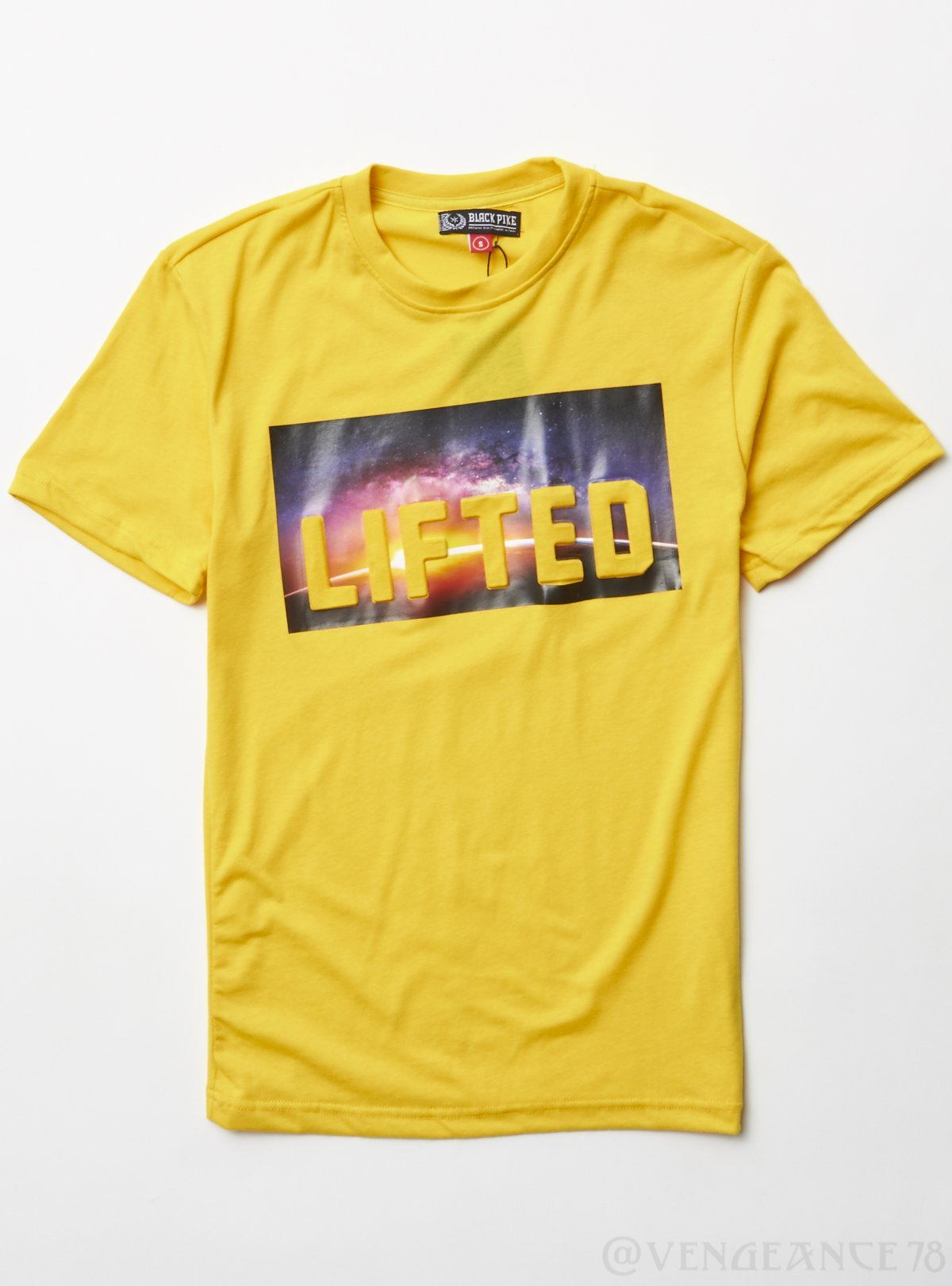 Black Pike T-Shirt - LIFTED - Yellow - BS0412