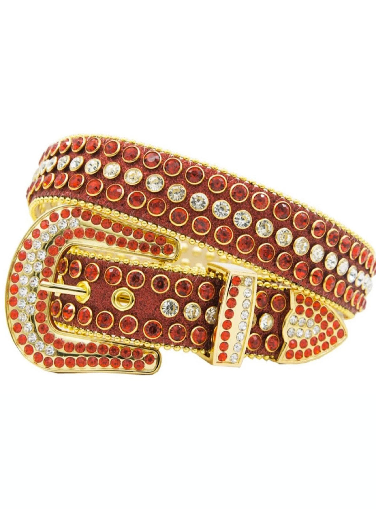DNA Belt - Shiny Stones - Red And Gold