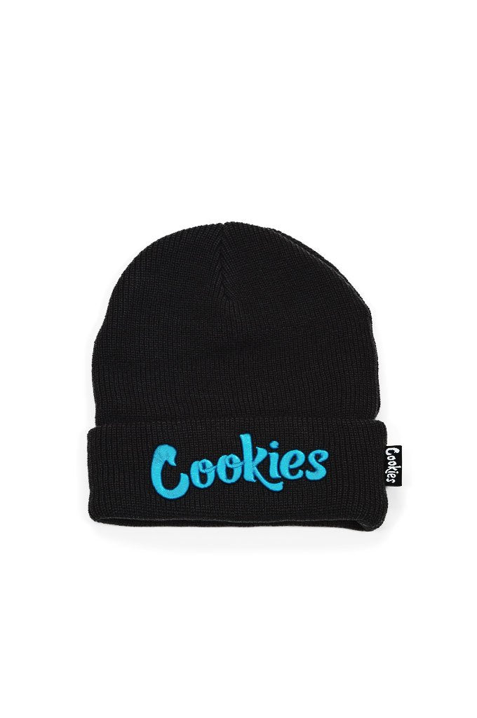 Cookies Beanie - Original Mint Embroidered Knit - Black/Blue - 1546X4388