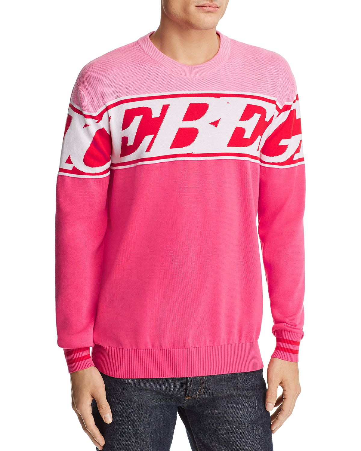 Iceberg Crewneck With Maxi-Logo A0187604 Pink/Red