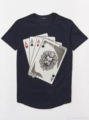 George V T-Shirt - Cards - Navy - GV-2033